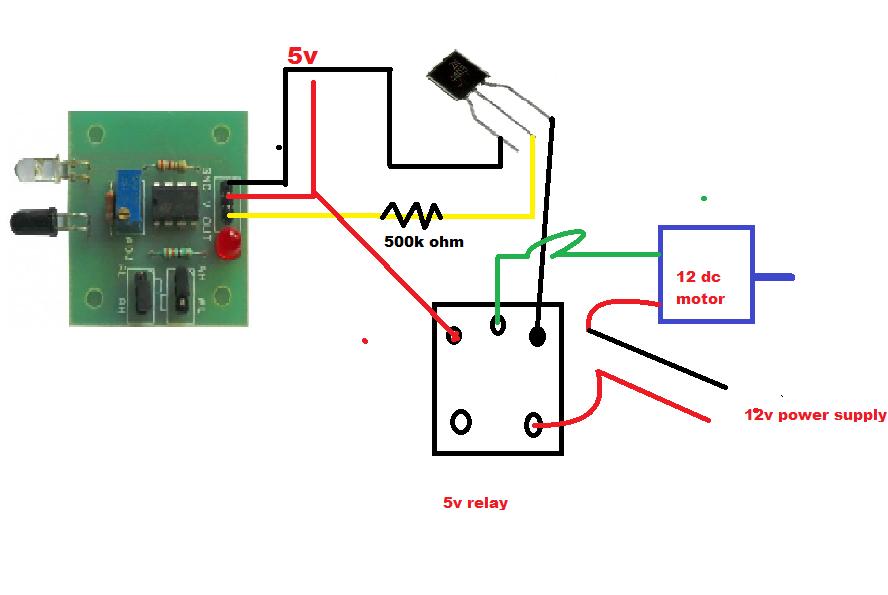 how to make an automatic hand dryer at home rh beginnertopro in Dryer Plug Wiring Diagram Samsung Dryer Wiring Diagram